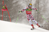 Marcel Hirscher of Austria skiing in the first run of the men giant slalom race of Audi FIS Alpine skiing World cup in Kranjska Gora, Slovenia. Men giant slalom race of Audi FIS Alpine skiing World cup, was held in Kranjska Gora, Slovenia, on Saturday, 5th of March 2016.