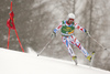 Thomas Fanara of France skiing in the first run of the men giant slalom race of Audi FIS Alpine skiing World cup in Kranjska Gora, Slovenia. Men giant slalom race of Audi FIS Alpine skiing World cup, was held in Kranjska Gora, Slovenia, on Saturday, 5th of March 2016.