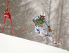 Stefan Luitz of Germany skiing in the first run of the men giant slalom race of Audi FIS Alpine skiing World cup in Kranjska Gora, Slovenia. Men giant slalom race of Audi FIS Alpine skiing World cup, was held in Kranjska Gora, Slovenia, on Saturday, 5th of March 2016.