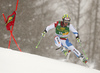 Justin Murisier of Switzerland skiing in the first run of the men giant slalom race of Audi FIS Alpine skiing World cup in Kranjska Gora, Slovenia. Men giant slalom race of Audi FIS Alpine skiing World cup, was held in Kranjska Gora, Slovenia, on Saturday, 5th of March 2016.