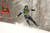 Eemeli Pirinen of Finland skiing in the first run of the men giant slalom race of Audi FIS Alpine skiing World cup in Kranjska Gora, Slovenia. Men giant slalom race of Audi FIS Alpine skiing World cup, was held in Kranjska Gora, Slovenia, on Saturday, 5th of March 2016.