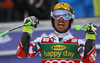 Marcel Hirscher of Austria reacts in finish of the second run of the men giant slalom race of Audi FIS Alpine skiing World cup in Kranjska Gora, Slovenia. Men giant slalom race of Audi FIS Alpine skiing World cup, was held in Kranjska Gora, Slovenia, on Saturday, 5th of March 2016.