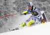 Fritz Dopfer of Germany skiing in the first run of the men slalom race of Audi FIS Alpine skiing World cup in Kranjska Gora, Slovenia. Men slalom race of Audi FIS Alpine skiing World cup, was held in Kranjska Gora, Slovenia, on Sunday, 6th of March 2016.