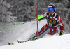 Sebastian Foss-Solevaag of Norway skiing in the first run of the men slalom race of Audi FIS Alpine skiing World cup in Kranjska Gora, Slovenia. Men slalom race of Audi FIS Alpine skiing World cup, was held in Kranjska Gora, Slovenia, on Sunday, 6th of March 2016.