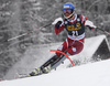 Jonathan Nordbotten of Norway skiing in the first run of the men slalom race of Audi FIS Alpine skiing World cup in Kranjska Gora, Slovenia. Men slalom race of Audi FIS Alpine skiing World cup, was held in Kranjska Gora, Slovenia, on Sunday, 6th of March 2016.