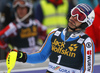 Fritz Dopfer of Germany reacts in finish of the second run of the men slalom race of Audi FIS Alpine skiing World cup in Kranjska Gora, Slovenia. Men slalom race of Audi FIS Alpine skiing World cup, was held in Kranjska Gora, Slovenia, on Sunday, 6th of March 2016.