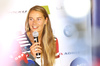 Tina Maze of Slovenia during her press conference which took place in Soelden, Austria, on Thursday, 20th of October 2016, and where she announced she will be racing one farewell race but otherwise she retired from ski racing.