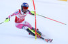 Mikaela Shiffrin of the USA in action during 1st run of ladies Slalom of FIS ski alpine world cup in Killington, Austria on 2016/11/27.