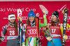 Sofia Goggia of Italy, Ilka Stuhec of Slovenia, Kajsa Kling of Sweden during Women Downhill of the Lake Louise FIS Ski Alpine World Cup. Lake Louise, United States on 2016/12/02.