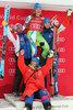 Ilka Stuhec of Slovenia and Team during women Downhill of the Lake Louise FIS Ski Alpine World Cup. Lake Louise, Austria on 2016/12/03./ Helmut Schoderbock
