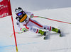 Winner Nicole Schmidhofer of Austria in action during women SuperG of FIS Ski Alpine World Cup. St. Moritz, Switzerland on 2017/02/07.