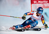 Mikaela Shiffrin (USA) // Mikaela Shiffrin of the USA in action during her 1st run of women Giant Slalom of FIS ski alpine world cup at the St. Moritz, Switzerland on 2017/02/16.