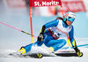 Marta Bassino (ITA) // Marta Bassino of Italy in action during her 1st run of women Giant Slalom of FIS ski alpine world cup at the St. Moritz, Switzerland on 2017/02/16.