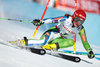 Ana Drev (SLO) // Ana Drev of Slovenia in action during her 1st run of women Giant Slalom of FIS ski alpine world cup at the St. Moritz, Switzerland on 2017/02/16.