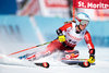 Marie-Michele Gagnon (CAN) // Marie-Michele Gagnon of Canada in action during her 1st run of women Giant Slalom of FIS ski alpine world cup at the St. Moritz, Switzerland on 2017/02/16.