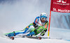 Ilka Stuhec of Slovenia in action during her 1st run of women Giant Slalom of FIS ski alpine world cup at the St. Moritz, Switzerland on 2017/02/16.