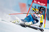 Sara Hector of Sweden in action during her 1st run of women Giant Slalom of FIS ski alpine world cup at the St. Moritz, Switzerland on 2017/02/16.