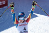 Giant Slalom Silver medalist Mikaela Shiffrin of the USA reacts after her 2nd run of women Giant Slalom of the FIS Ski World Championships 2017. St. Moritz, Switzerland on 2017/02/16.