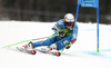 Henrik Kristoffersen of Norway skiing in the first run of the men giant slalom race of the Audi FIS Alpine skiing World cup in Kranjska Gora, Slovenia. Men giant slalom race of the Audi FIS Alpine skiing World cup, was held in Kranjska Gora, Slovenia, on Saturday, 4th of March 2017.