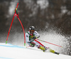 Philipp Schoerghofer of Austria skiing in the first run of the men giant slalom race of the Audi FIS Alpine skiing World cup in Kranjska Gora, Slovenia. Men giant slalom race of the Audi FIS Alpine skiing World cup, was held in Kranjska Gora, Slovenia, on Saturday, 4th of March 2017.
