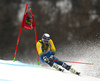 Andre Myhrer of Sweden skiing in the first run of the men giant slalom race of the Audi FIS Alpine skiing World cup in Kranjska Gora, Slovenia. Men giant slalom race of the Audi FIS Alpine skiing World cup, was held in Kranjska Gora, Slovenia, on Saturday, 4th of March 2017.