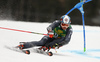Florian Eisath of Italy skiing in the first run of the men giant slalom race of the Audi FIS Alpine skiing World cup in Kranjska Gora, Slovenia. Men giant slalom race of the Audi FIS Alpine skiing World cup, was held in Kranjska Gora, Slovenia, on Saturday, 4th of March 2017.