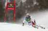 Justin Murisier of Switzerland skiing in the first run of the men giant slalom race of the Audi FIS Alpine skiing World cup in Kranjska Gora, Slovenia. Men giant slalom race of the Audi FIS Alpine skiing World cup, was held in Kranjska Gora, Slovenia, on Saturday, 4th of March 2017.
