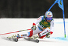 Gino Caviezel of Switzerland skiing in the first run of the men giant slalom race of the Audi FIS Alpine skiing World cup in Kranjska Gora, Slovenia. Men giant slalom race of the Audi FIS Alpine skiing World cup, was held in Kranjska Gora, Slovenia, on Saturday, 4th of March 2017.