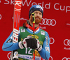 Second placed Leif Kristian Haugen of Norway  celebrates his medal won in the men giant slalom race of the Audi FIS Alpine skiing World cup in Kranjska Gora, Slovenia. Men giant slalom race of the Audi FIS Alpine skiing World cup, was held in Kranjska Gora, Slovenia, on Saturday, 4th of March 2017.