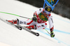 Marcel Hirscher of Austria skiing in the first run of the men giant slalom race of the Audi FIS Alpine skiing World cup in Kranjska Gora, Slovenia. Men giant slalom race of the Audi FIS Alpine skiing World cup, was held in Kranjska Gora, Slovenia, on Saturday, 4th of March 2017.