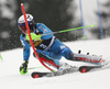 Henrik Kristoffersen of Norway skiing in the first run of the men slalom race of the Audi FIS Alpine skiing World cup in Kranjska Gora, Slovenia. Men slalom race of the Audi FIS Alpine skiing World cup, was held in Kranjska Gora, Slovenia, on Sunday, 5th of March 2017.