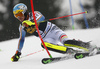Felix Neureuther of Germany skiing in the first run of the men slalom race of the Audi FIS Alpine skiing World cup in Kranjska Gora, Slovenia. Men slalom race of the Audi FIS Alpine skiing World cup, was held in Kranjska Gora, Slovenia, on Sunday, 5th of March 2017.