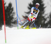 Daniel Yule of Switzerland skiing in the first run of the men slalom race of the Audi FIS Alpine skiing World cup in Kranjska Gora, Slovenia. Men slalom race of the Audi FIS Alpine skiing World cup, was held in Kranjska Gora, Slovenia, on Sunday, 5th of March 2017.