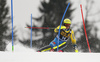 Mattias Hargin of Sweden skiing in the first run of the men slalom race of the Audi FIS Alpine skiing World cup in Kranjska Gora, Slovenia. Men slalom race of the Audi FIS Alpine skiing World cup, was held in Kranjska Gora, Slovenia, on Sunday, 5th of March 2017.