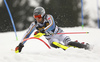 Dominik Stehle of Germany skiing in the first run of the men slalom race of the Audi FIS Alpine skiing World cup in Kranjska Gora, Slovenia. Men slalom race of the Audi FIS Alpine skiing World cup, was held in Kranjska Gora, Slovenia, on Sunday, 5th of March 2017.
