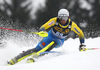 Anton Lahdenperae of Sweden skiing in the first run of the men slalom race of the Audi FIS Alpine skiing World cup in Kranjska Gora, Slovenia. Men slalom race of the Audi FIS Alpine skiing World cup, was held in Kranjska Gora, Slovenia, on Sunday, 5th of March 2017.