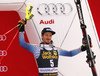 Third placed Felix Neureuther of Germany celebrates his medal won in the men slalom race of the Audi FIS Alpine skiing World cup in Kranjska Gora, Slovenia. Men slalom race of the Audi FIS Alpine skiing World cup, was held in Kranjska Gora, Slovenia, on Sunday, 5th of March 2017.