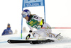 skiing in the first run of the women giant slalom opening race of the Audi FIS Alpine skiing World cup in Soelden, Austria. Opening women giant slalom race of the Audi FIS Alpine skiing World cup, was held on Rettenbach glacier above Soelden, Austria, on Saturday, 28th of October 2017.