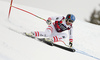 Matthias Mayer of Austria skiing in the men super-g race of the Audi FIS Alpine skiing World cup in Val Gardena, Italy. Men super-g race of the Audi FIS Alpine skiing World cup, was held on Saslong course in Val Gardena Groeden, Italy, on Friday, 15th of December 2017.