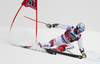 Mauro Caviezel of Switzerland skiing in the men super-g race of the Audi FIS Alpine skiing World cup in Val Gardena, Italy. Men super-g race of the Audi FIS Alpine skiing World cup, was held on Saslong course in Val Gardena Groeden, Italy, on Friday, 15th of December 2017.