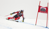 Erik Guay of Canada skiing in the men super-g race of the Audi FIS Alpine skiing World cup in Val Gardena, Italy. Men super-g race of the Audi FIS Alpine skiing World cup, was held on Saslong course in Val Gardena Groeden, Italy, on Friday, 15th of December 2017.