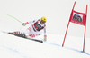 Max Franz of Austria skiing in the men super-g race of the Audi FIS Alpine skiing World cup in Val Gardena, Italy. Men super-g race of the Audi FIS Alpine skiing World cup, was held on Saslong course in Val Gardena Groeden, Italy, on Friday, 15th of December 2017.