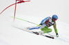 Bostjan Kline of Slovenia skiing in the men super-g race of the Audi FIS Alpine skiing World cup in Val Gardena, Italy. Men super-g race of the Audi FIS Alpine skiing World cup, was held on Saslong course in Val Gardena Groeden, Italy, on Friday, 15th of December 2017.