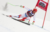 Thomas Tumler of Switzerland skiing in the men super-g race of the Audi FIS Alpine skiing World cup in Val Gardena, Italy. Men super-g race of the Audi FIS Alpine skiing World cup, was held on Saslong course in Val Gardena Groeden, Italy, on Friday, 15th of December 2017.