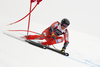 Adrian Smiseth Sejersted of Norway skiing in the men super-g race of the Audi FIS Alpine skiing World cup in Val Gardena, Italy. Men super-g race of the Audi FIS Alpine skiing World cup, was held on Saslong course in Val Gardena Groeden, Italy, on Friday, 15th of December 2017.