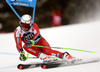 Henrik Kristoffersen of Norway skiing in the first run of the men giant slalom race of the Audi FIS Alpine skiing World cup in Alta Badia, Italy. Men giant slalom race of the Audi FIS Alpine skiing World cup, was held on Gran Risa course in Alta Badia, Italy, on Sunday, 17th of December 2017.