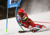 Leif Nestvold-Haugen of Norway skiing in the first run of the men giant slalom race of the Audi FIS Alpine skiing World cup in Alta Badia, Italy. Men giant slalom race of the Audi FIS Alpine skiing World cup, was held on Gran Risa course in Alta Badia, Italy, on Sunday, 17th of December 2017.