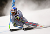 Alexis Pinturault of France skiing in the first run of the men giant slalom race of the Audi FIS Alpine skiing World cup in Alta Badia, Italy. Men giant slalom race of the Audi FIS Alpine skiing World cup, was held on Gran Risa course in Alta Badia, Italy, on Sunday, 17th of December 2017.