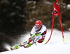 Justin Murisier of Switzerland skiing in the first run of the men giant slalom race of the Audi FIS Alpine skiing World cup in Alta Badia, Italy. Men giant slalom race of the Audi FIS Alpine skiing World cup, was held on Gran Risa course in Alta Badia, Italy, on Sunday, 17th of December 2017.