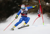 Luca De Aliprandini of Italy skiing in the first run of the men giant slalom race of the Audi FIS Alpine skiing World cup in Alta Badia, Italy. Men giant slalom race of the Audi FIS Alpine skiing World cup, was held on Gran Risa course in Alta Badia, Italy, on Sunday, 17th of December 2017.